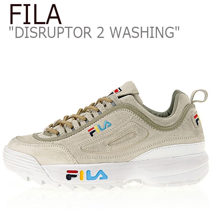 フィラ ディスラプター スニーカー FILA メンズ レディース DISRUPTOR 2 WASHING ディスラプター2ウォッシング GRAY グレー FS1HTA3112X FLFL9S1U21 シューズ
