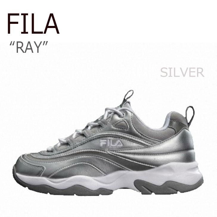 フィラ スニーカー FILA メンズレディース RAY レイ SILVER シルバー FS1SIA1164X シューズ