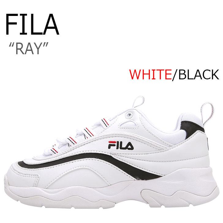フィラ レイ スニーカー FILA メンズ レディース RAY ダッドシューズ WHITE ホワイト BLACK ブラック FS1SIA3061X シューズ
