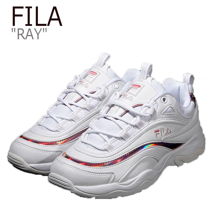 フィラ スニーカー FILA レディース RAY レイ WHITE PINK ホワイト ピンク FS1SIB1163X FS1SIA3063X FLFL9S1U19 シューズ