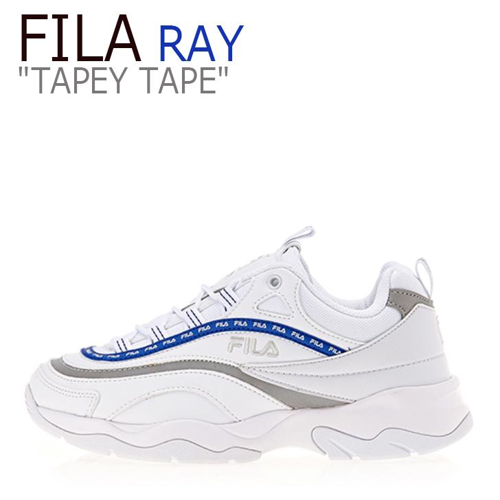 フィラ レイ スニーカー FILA メンズ レディース RAY TAPEY TAPE レイ テーピー テープ WHITE BLUE ホワイト ブルー FS1SIA3102X シューズ