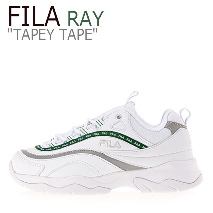 フィラ レイ スニーカー FILA メンズ レディース RAY TAPEY TAPE レイ テーピー テープ WHITE GREEN ホワイト グリーン FS1SIA3103X シューズ