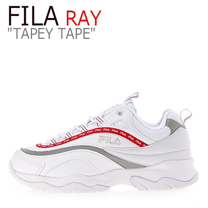 フィラ レイ スニーカー FILA メンズ レディース RAY TAPEY TAPE レイ テーピー テープ WHITE RED ホワイト レッド FS1SIA3104X シューズ