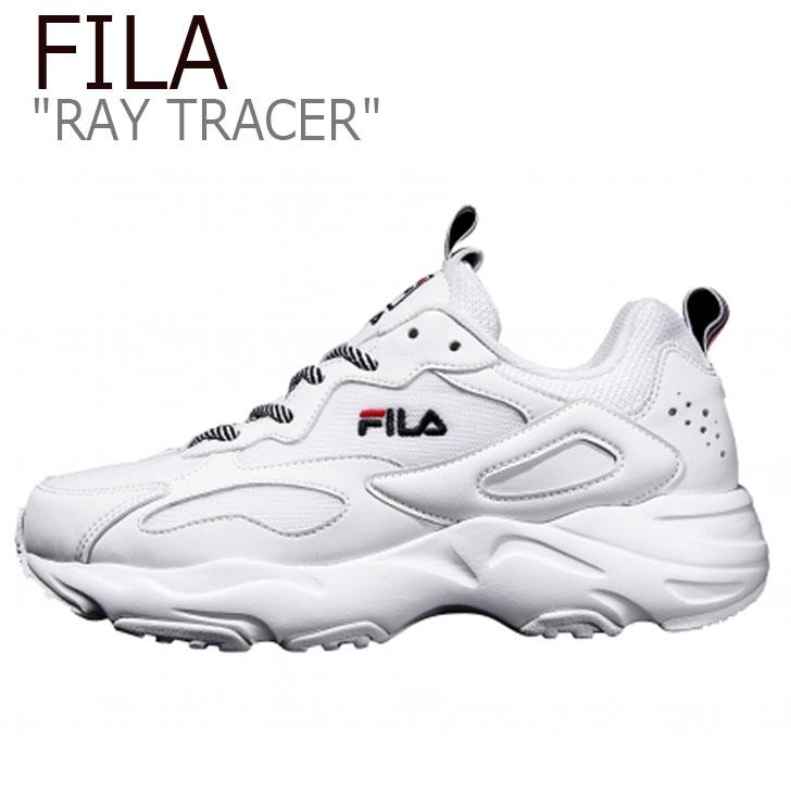 フィラ レイ スニーカー FILA メンズ レディース RAY TRACER レイトレーサー レイ トレーサー WHITE ホワイト FS1SIA3130X FLFL8F4U45 シューズ