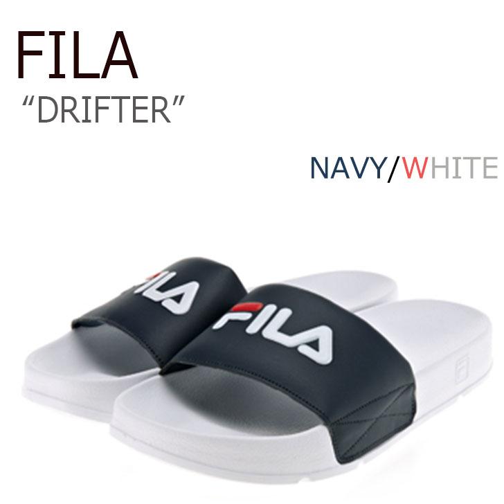 フィラ ドリフター サンダル FILA メンズ レディース DRIFTER NAVY ネイビー WHITE ホワイト FS1SLA2803X シューズBexorCd
