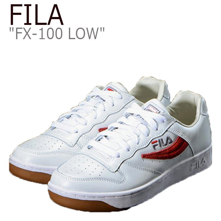 フィラ スニーカー FILA メンズ レディース FX-100 LOW RED SQUARE PACK エフエックス100 ロー レッド スクエア パック White Red ホワイト レッド FS1HTA1002X シューズ