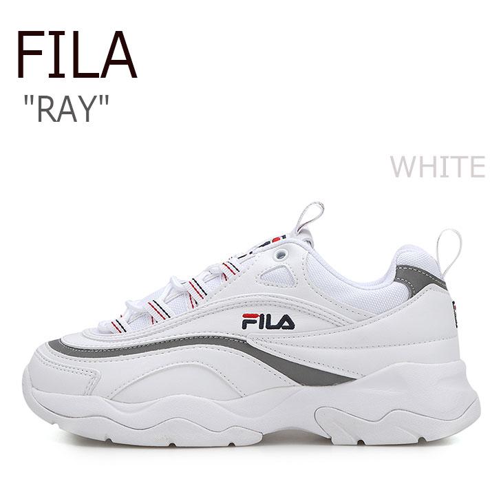フィラ スニーカー FILA メンズ レディース RAY レイ WHITE ホワイト FS1SIA1165X FLFL8A1U16 ダッドシューズ シューズ