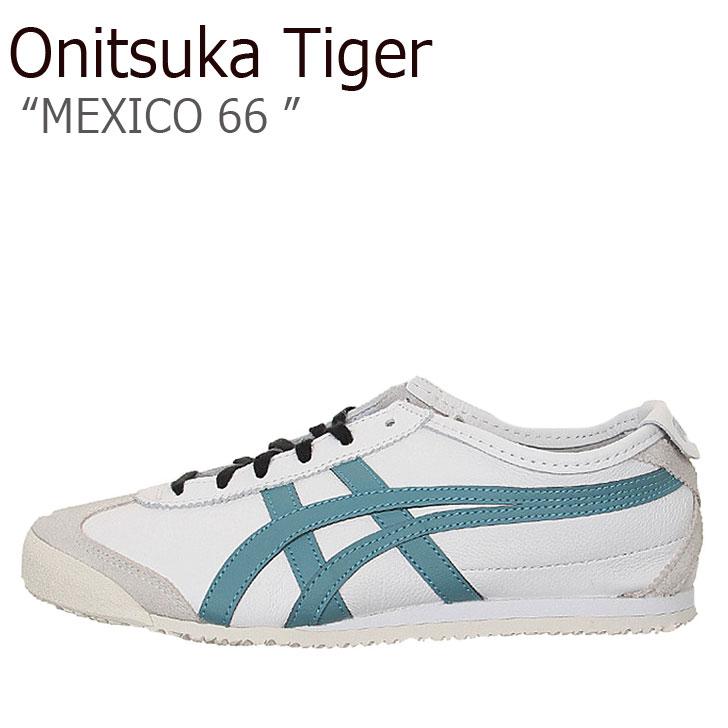 オニツカタイガー スニーカー Onitsuka Tiger メンズ レディース MEXICO 66 メキシコ66 WHITE GRIS BLUE ホワイト グリスブルー 1183A459-101 シューズ