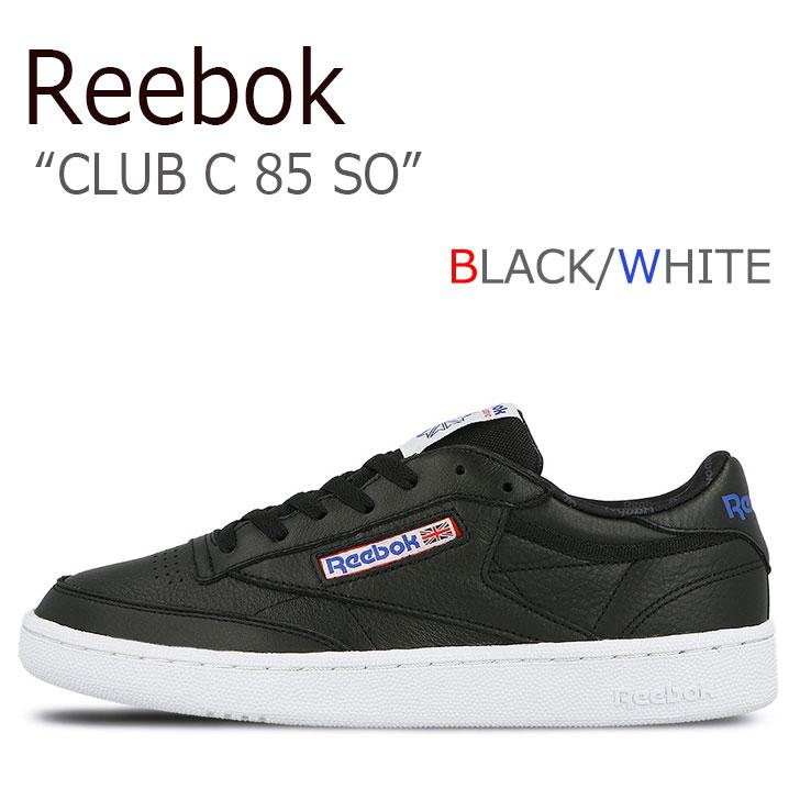 リーボック スニーカー REEBOK メンズ レディース CLUB C 85 SO クラブC 85 SO BLACK WHITE VITAL BLUE PRIMAL ブラック ホワイト バイタルブルー プライマル BS5213 シューズ