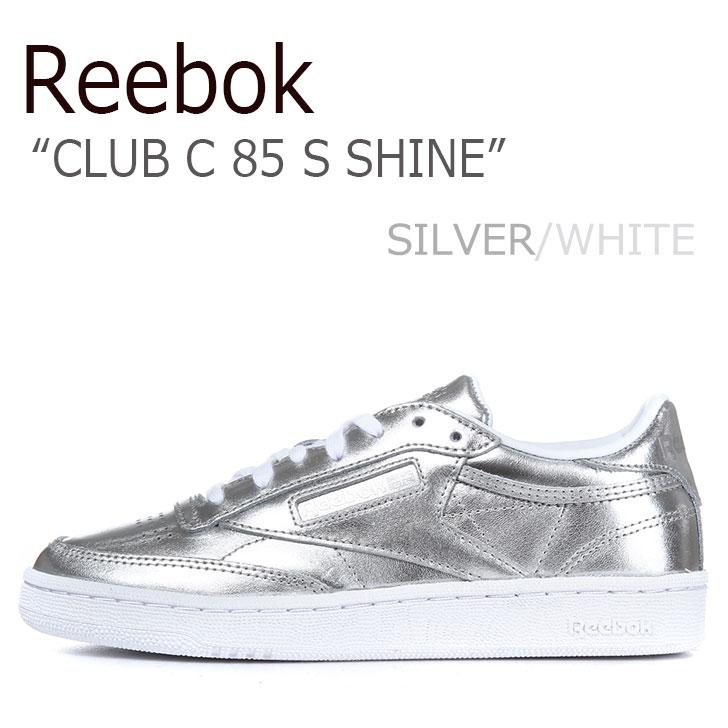 リーボック スニーカー REEBOK レディース CLUB C 85 S SHINE クラブC 85 S シャイン SILVER WHITE シルバー ホワイト CM8686 シューズ