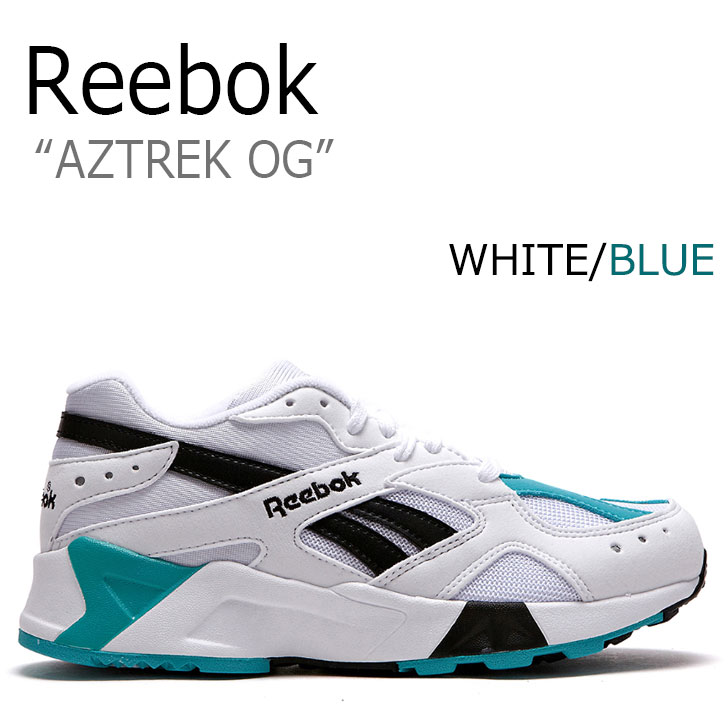 リーボック スニーカー REEBOK メンズ レディース AZTREK OG アズトレックOG WHITE ホワイト BLUE ブルー CN7067 RBKCN7067 FLRB8F3U04 シューズ