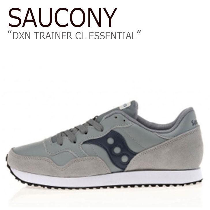 サッカニー スニーカー Saucony メンズ DXN TRAINER CL ESSENTIAL ディクソントレーナー GRAY グレー S70358-5 シューズ