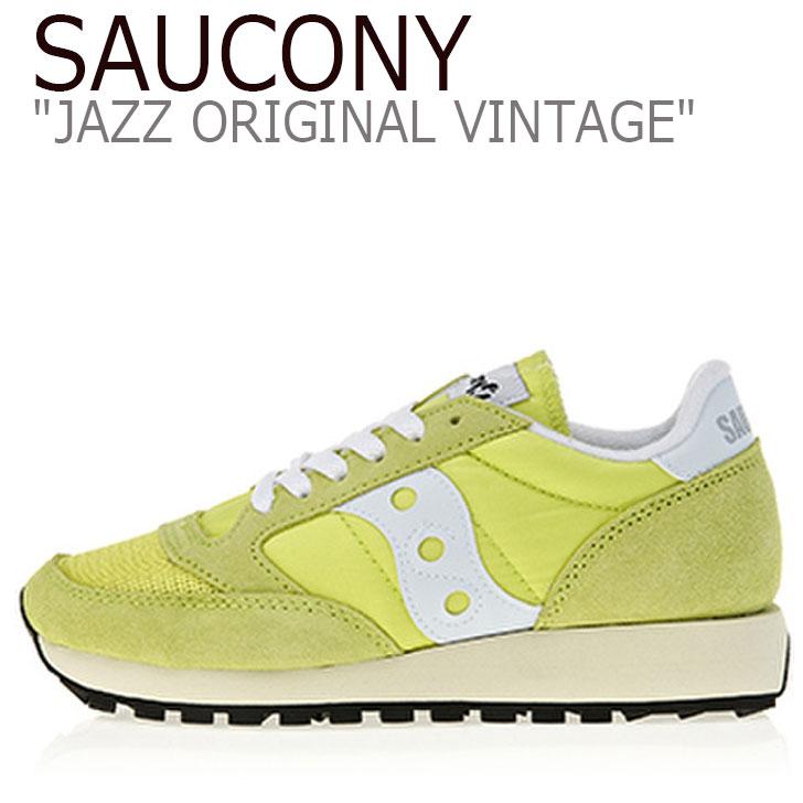 サッカニー ジャズオリジナル スニーカー SAUCONY レディース JAZZ ORIGINAL VINTAGE ジャズ オリジナル ヴィンテージ YELLOW イエロー S60368-24 シューズ