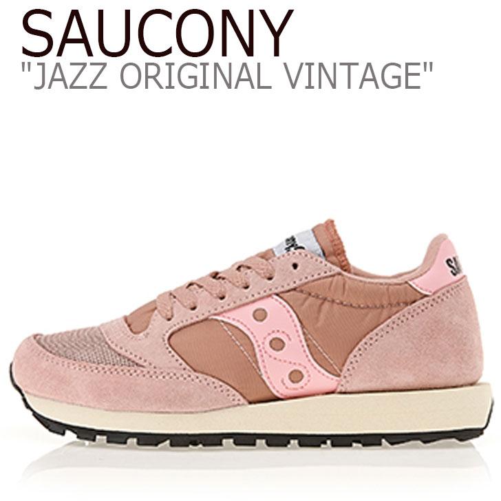 サッカニー ジャズオリジナル スニーカー SAUCONY レディース JAZZ ORIGINAL VINTAGE ジャズ オリジナル ヴィンテージ PINK ピンク S60368-2 シューズ