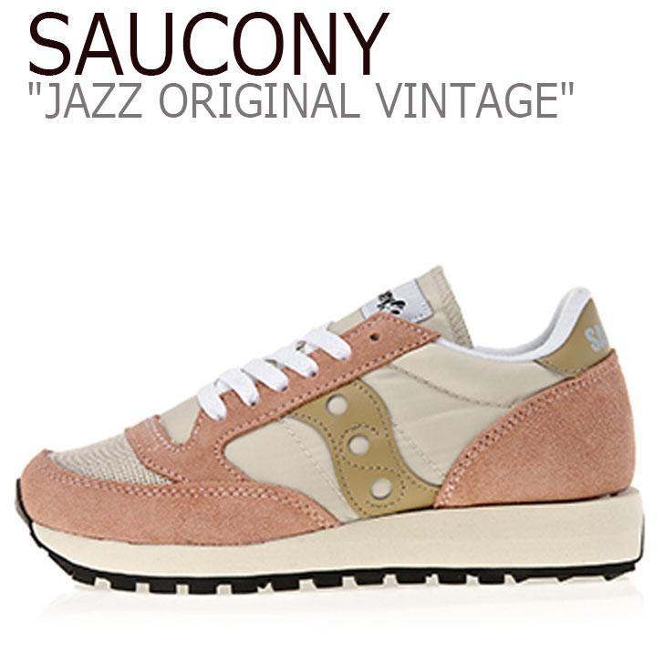 サッカニー ジャズオリジナル スニーカー SAUCONY レディース JAZZ ORIGINAL VINTAGE ジャズ オリジナル ヴィンテージ PINK ピンク S60368-31 シューズ