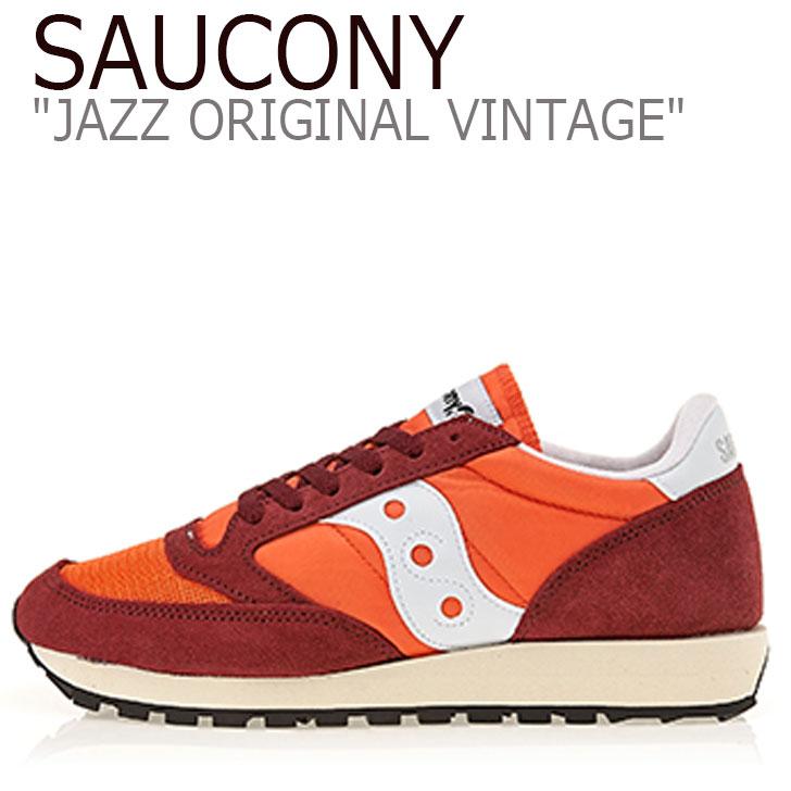 サッカニー ジャズオリジナル スニーカー SAUCONY メンズ レディース JAZZ ORIGINAL VINTAGE ジャズ オリジナル ヴィンテージ ORANGE オレンジ S60368-44 シューズ