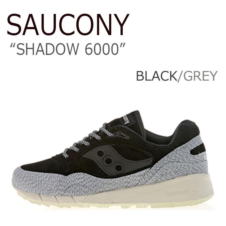 サッカニー スニーカー SAUCONY メンズ SHADOW 6000 シャドウ 6000 BLACK GREY ブラック グレー S70307-1 シューズ