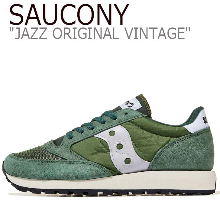 シューズ ジャズオリジナル ジャズ JAZZ メンズ オリジナル SAUCONY グリーン スニーカー VINTAGE サッカニー S70321-4 ORIGINAL ヴィンテージ GREEN
