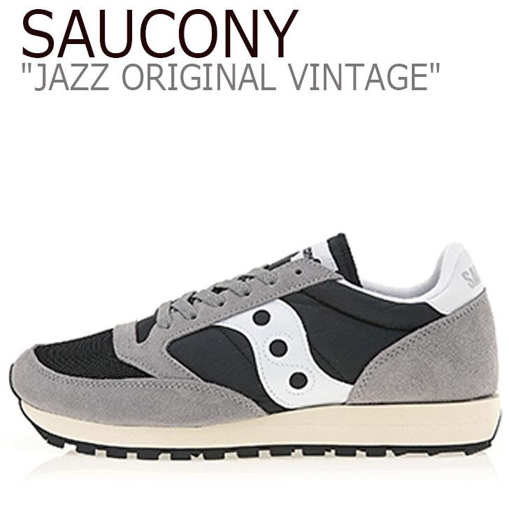 サッカニー ジャズオリジナル スニーカー SAUCONY メンズ JAZZ ORIGINAL VINTAGE ジャズ オリジナル ヴィンテージ GREY グレー S70368-37 シューズ