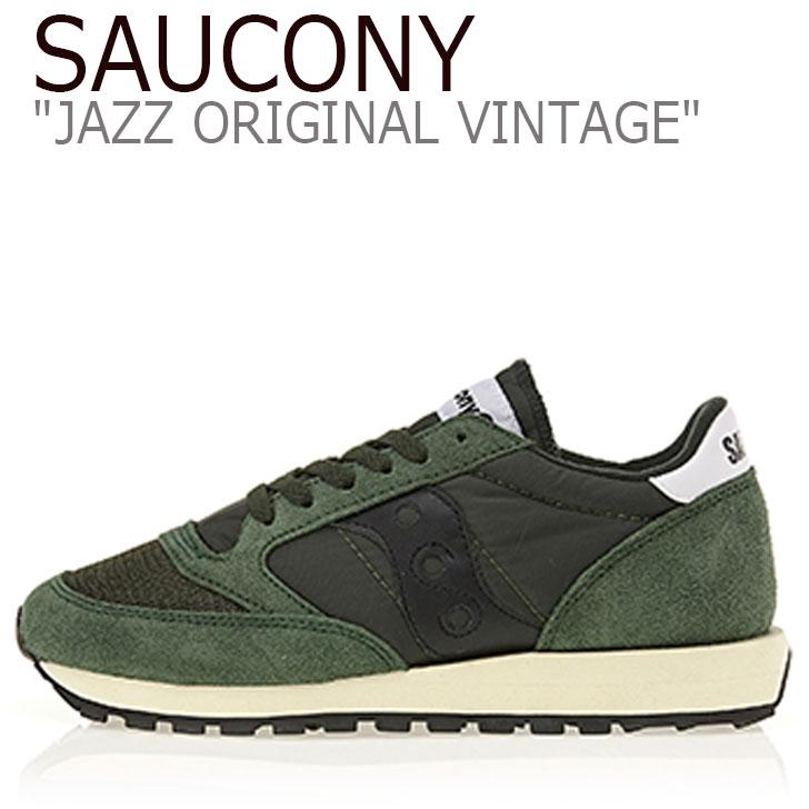 サッカニー ジャズオリジナル スニーカー SAUCONY メンズ レディース JAZZ ORIGINAL VINTAGE ジャズ オリジナル ヴィンテージ GREEN グリーン S70368-8 シューズ
