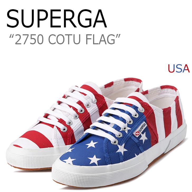 スペルガ スニーカー SUPERGA メンズ レディース 2750 COTU FLAG フラッグ USA アメリカ S007X80A12 シューズ