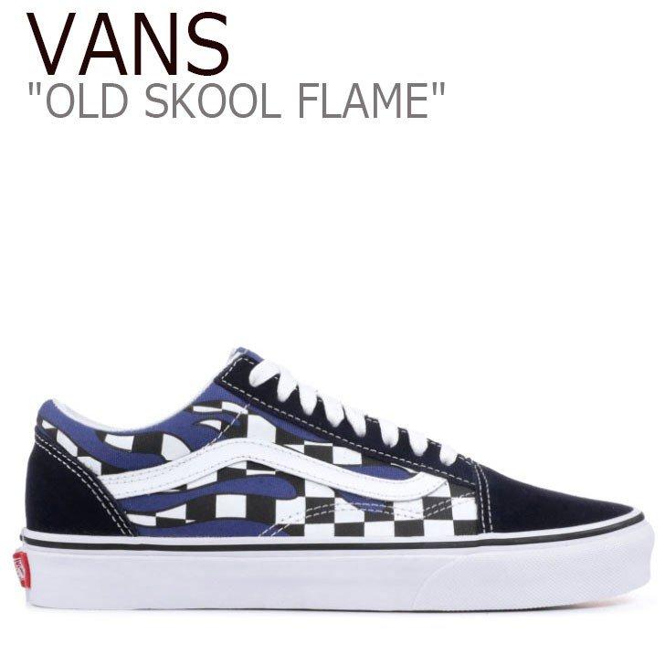Vans old school sneakers VANS men gap Dis OLD SKOOL FLAME PACK CHECKERBOARD old school frame pack checkerboard NAVY navy VN0A38G1RX6 shoes