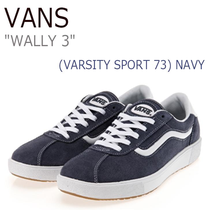 バンズ スニーカー VANS メンズ WALLY 3 ウォーリー3 (VARSITY SPORT 73) NAVY TRUE WHITE ヴァーシティ スポーツ73 ネイビー VN0A3DPWOJH シューズ