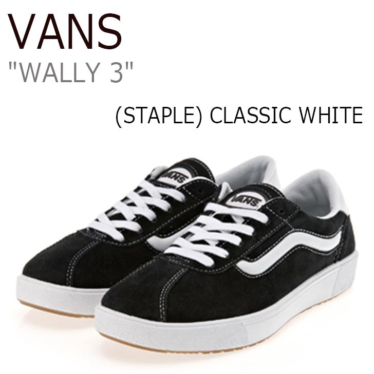 バンズ スニーカー VANS メンズ レディース WALLY 3 ウォーリー3 (STAPLE) BLACK TRUE WHITE ステープル ブラック VN0A3DPWOS7 シューズ