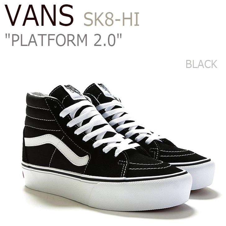 バンズ スニーカー VANS レディース SK8-Hi PLATFORM 2.0 スケートハイ プラットフォーム 2.0 BLACK ブラック VN0A3TKN6BT シューズ