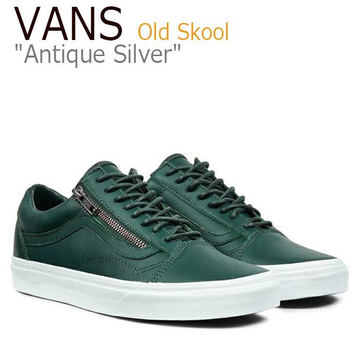 Vans Old Skool Zip/Antique Silver/Green Gables/True White【バンズ】【オールドスクール】【VN00018GJTK1】 シューズ