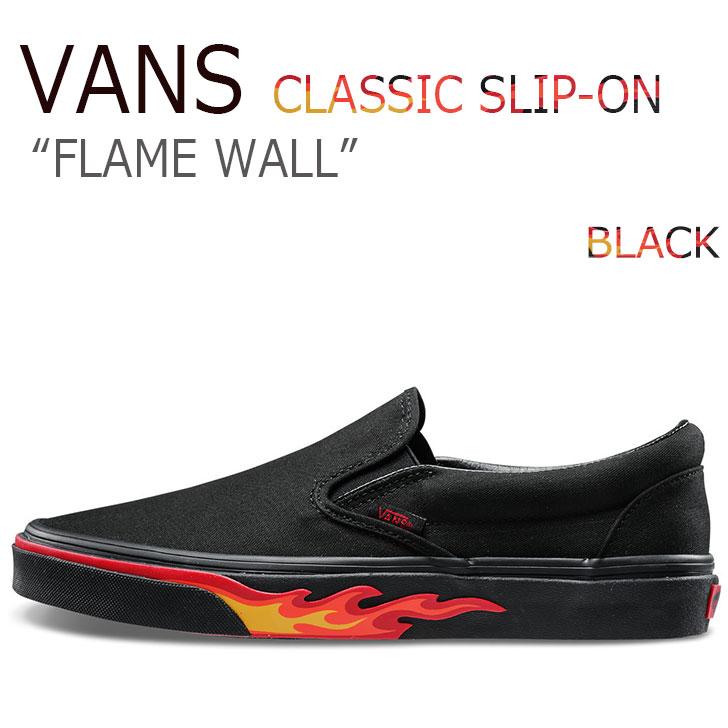 バンズ スリッポン スニーカー VANS メンズ レディース SLIP-ON FLAME フレイム BLACK ブラック VN0A38F7Q8Q シューズ