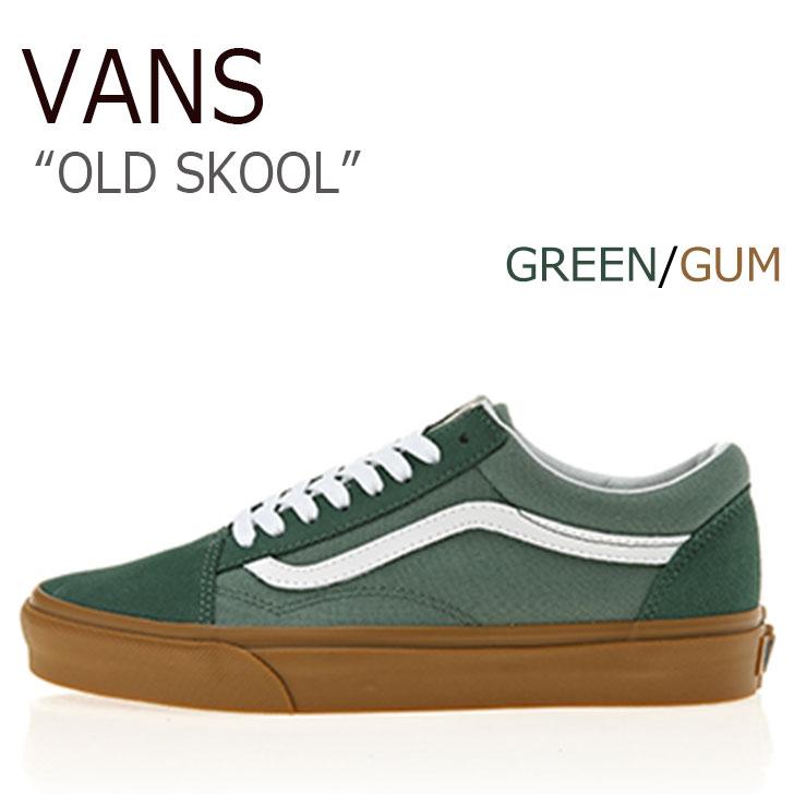 バンズ オールドスクール スニーカー VANS メンズ OLD SKOOL DUCK GREEN グリーン GUM ガム VN0A38G1Q9V シューズ