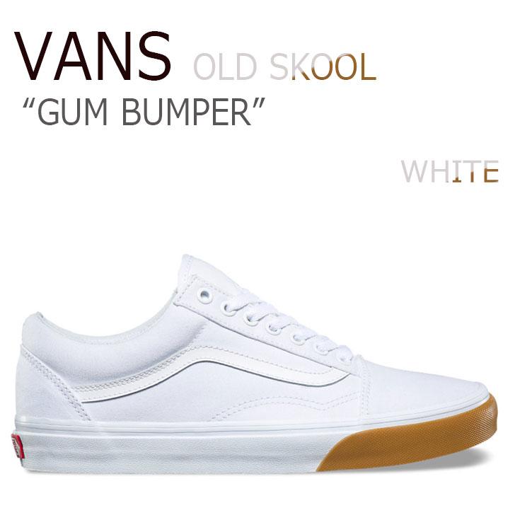 バンズ オールドスクール スニーカー VANS メンズ レディース ガムバンパーパック OLD SKOOL GUM BUMPER PACK WHITE ホワイト VN0A38G1Q8R シューズ