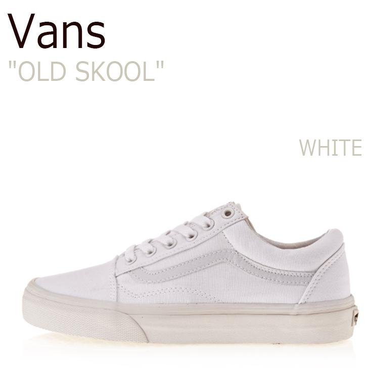 バンズ スニーカー VANS メンズ オールドスクール OLD SKOOL TRUE WHITE ホワイト VN000D3HW00 VN-0D3HW00 シューズ