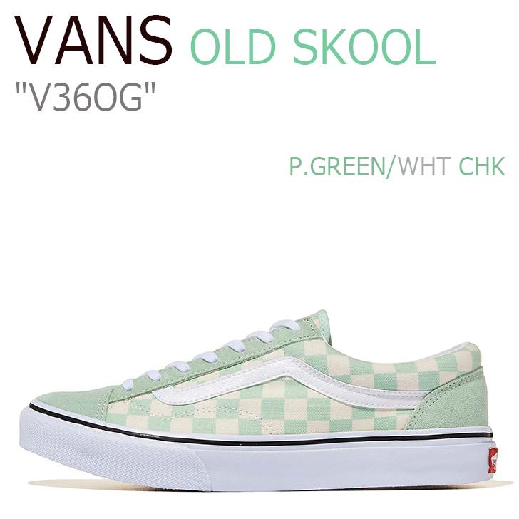 バンズ オールドスクール スニーカー メンズ レディース OLD SKOOL OG オールドスクールOG P.GREEN WHT CHK グリーン ホワイト チェック V36OG シューズ