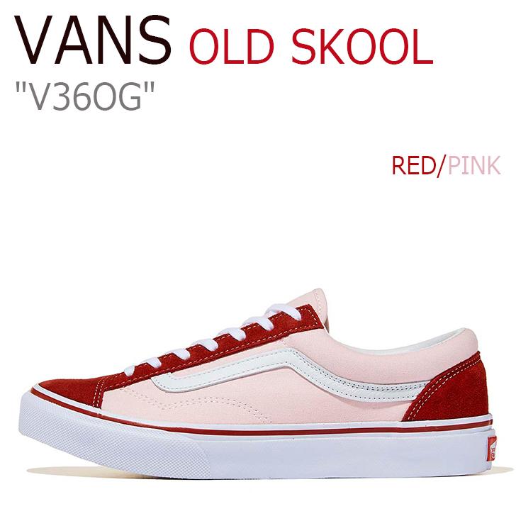 バンズ オールドスクール スニーカー メンズ レディース OLD SKOOL OG オールドスクールOG RED PINK レッド ピンク V36OG シューズ