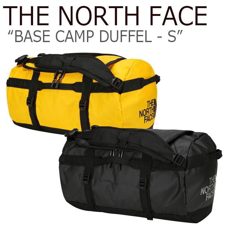 ノースフェイス ボストンバッグ THE NORTH FACE メンズ レディース BASE CAMP DUFFEL-S ベース キャンプ ダッフルバッグ BLACK YELLOW ブラック イエロー NN2FJ35J/K バッグ 【中古】未使用品