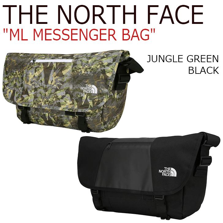 ノースフェイス クロスバッグ THE NORTH FACE メンズ レディース ML MESSENGER BAG メッセンジャーバッグ JUNGLE GREEN ジャングルグリーン BLACK ブラック NN2PJ02A/C バッグ 【中古】未使用品