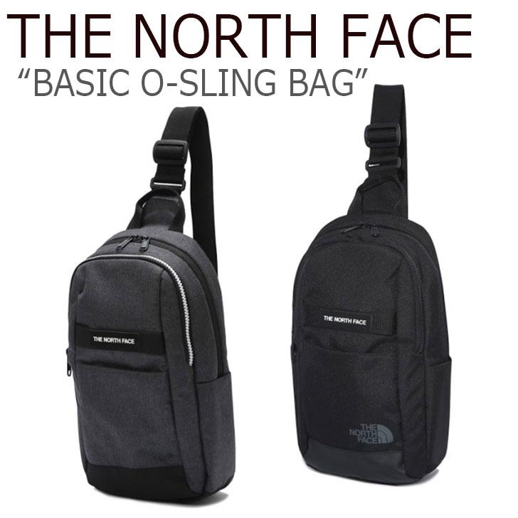 ノースフェイス クロスバッグ THE NORTH FACE メンズ レディース BASIC O-SLING BAG ベーシック O-スリング バッグ BLACK GREY ブラック グレー NN2PK05J/K バッグ 【中古】未使用品