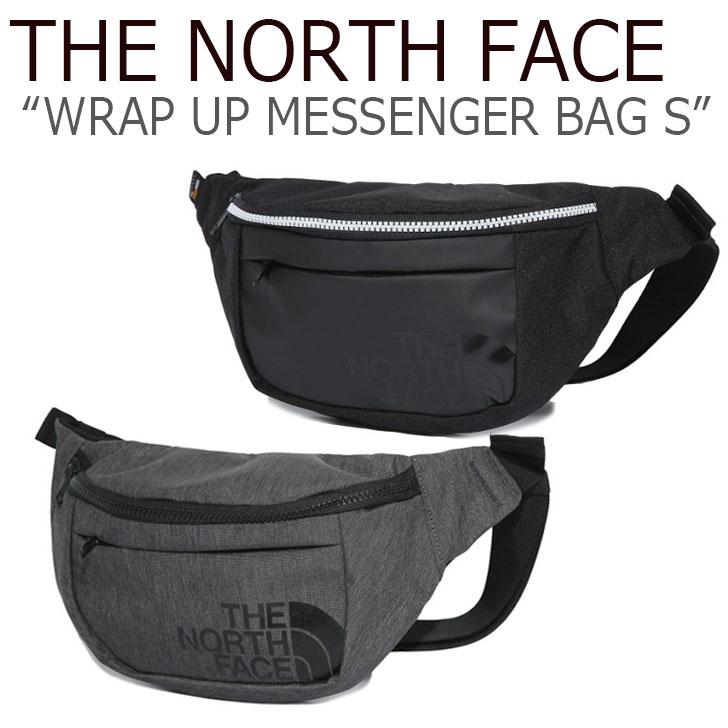 ノースフェイス ウエストポーチ THE NORTH FACE メンズ レディース WRAP UP MESSENGER BAG S ラップアップ メッセンジャーバッグS BLACK MELANGE GREY ブラック グレー NN2PK13J/K バッグ 【中古】未使用品