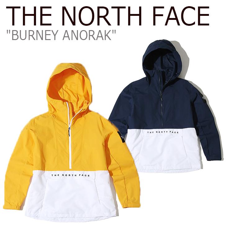 ノースフェイス ジャケット THE NORTH FACE メンズ BURNEY ANORAK バーニー アノラック スクエアロゴ ボックスロゴ NAVY YELLOW ネイビー イエロー NA4HK02K/L ウェア 【中古】未使用品