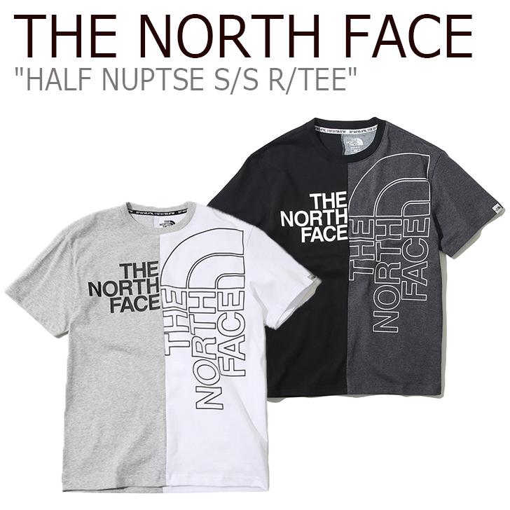 ノースフェイス Tシャツ THE NORTH FACE メンズ レディース HALF NUPTSE S/S R/TEE ハーフ ヌプシ ショートスリーブ ラウンドT GREY BLACK グレー ブラック NT7UK03J/K ウェア 【中古】未使用品