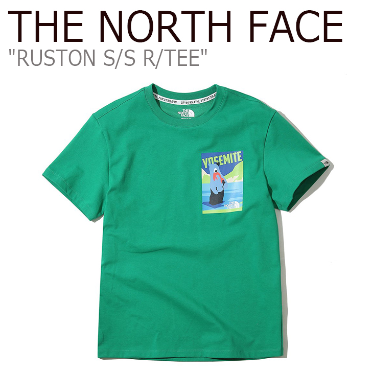 ノースフェイス Tシャツ THE NORTH FACE メンズ レディース RUSTON S/S R/TEE ラストン ショートスリーブ ラウンドT 半袖 GREEN グリーン NT7UK04M ウェア 【中古】未使用品