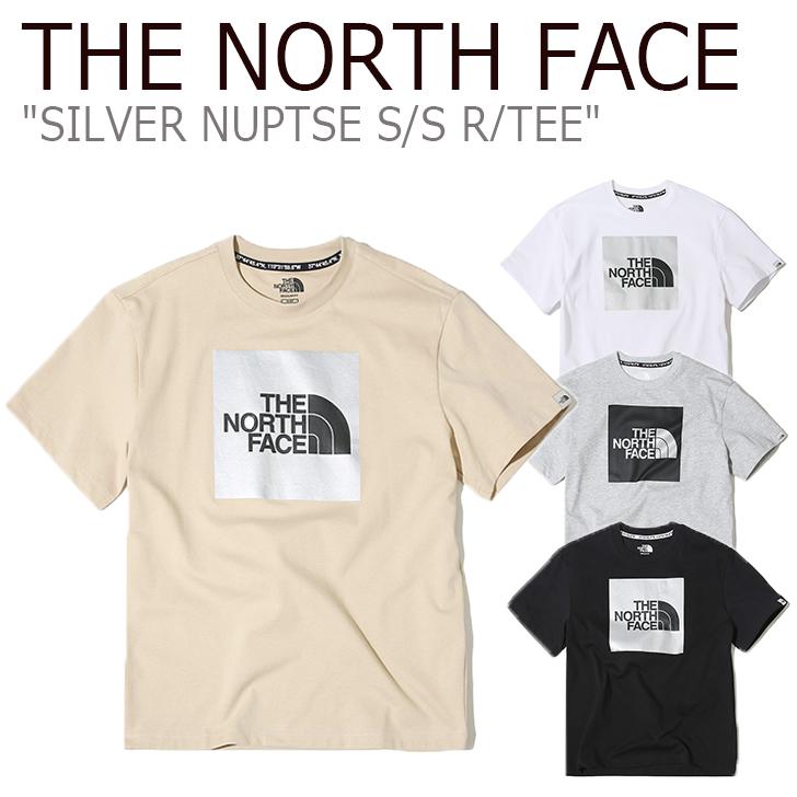 ノースフェイス Tシャツ THE NORTH FACE メンズ レディース SILVER NUPTSE S/S R/TEE シルバー ヌプシ ショートスリーブ ラウンドT WHITE BEIGE GREY BLACK ホワイト ベージュ グレー ブラック NT7UK09J/K/L/M ウェア 【中古】未使用品