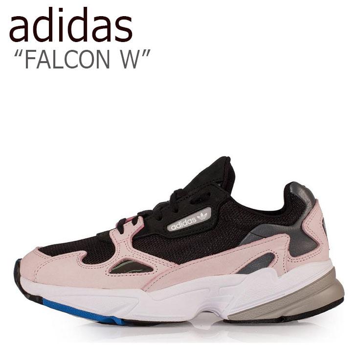 アディダス スニーカー adidas レディース FALCON W ファルコン ウーマン BLACK BLACK PINK ブラック ブラック ピンク B28126 シューズ 【中古】未使用品