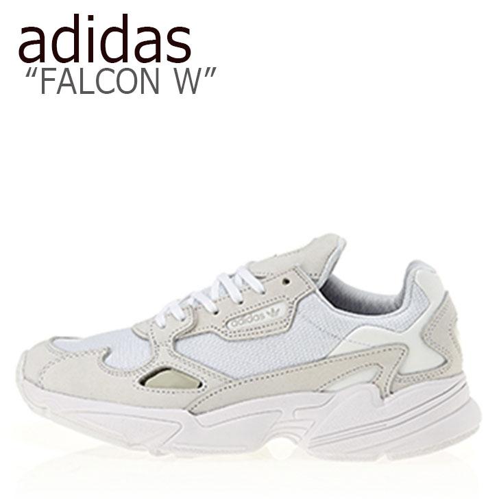 アディダス スニーカー adidas メンズ レディース FALCON W ファルコン ウーマン WHITE WHITE WHITE ホワイト B28128 シューズ 【中古】未使用品