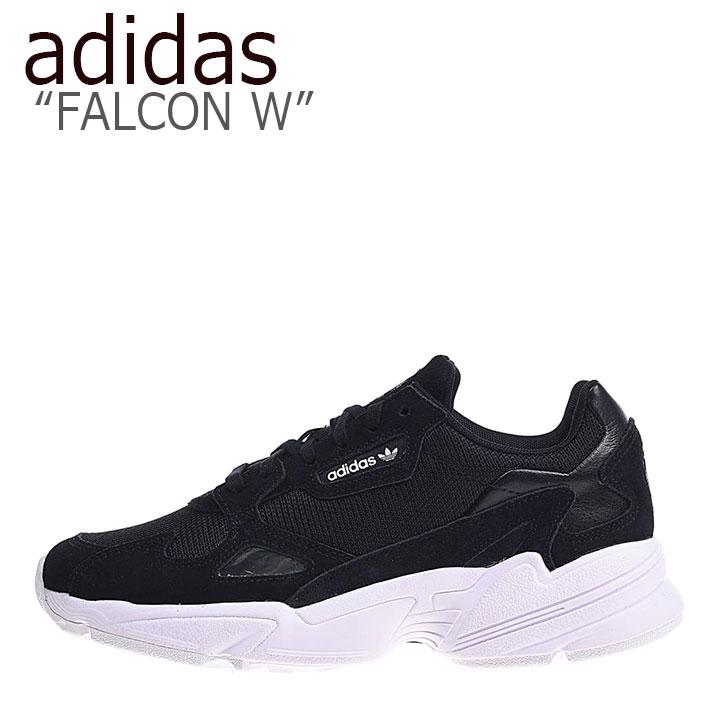 アディダス スニーカー adidas メンズ レディース FALCON W ファルコン ウーマン BLACK BLACK WHITE ブラック ブラック ホワイト B28129 シューズ 【中古】未使用品