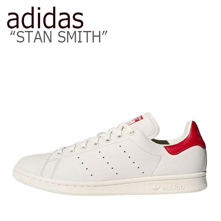 アディダス スタンスミス スニーカー adidas メンズ レディース STAN SMITH スタンスミス WHITE RED ホワイト レッド B37898 シューズ 【中古】未使用品