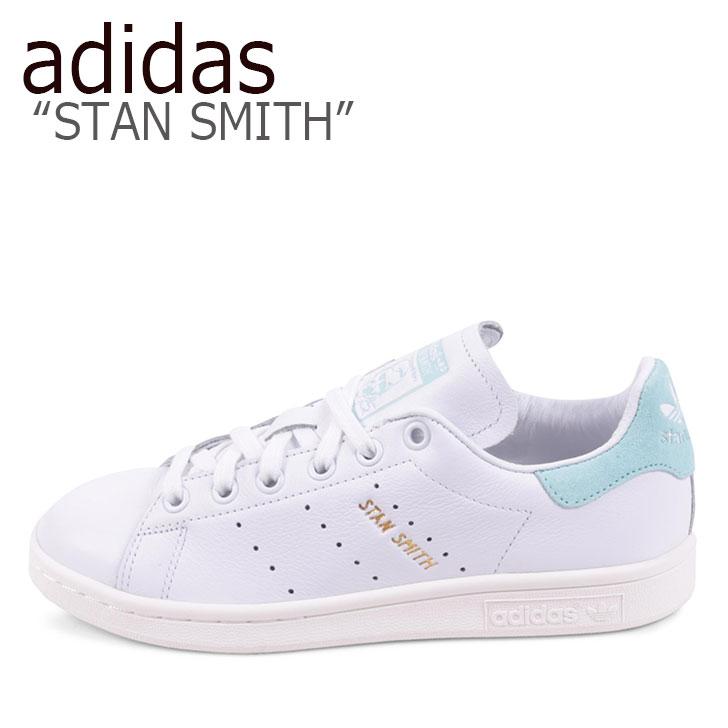 アディダス スタンスミス スニーカー adidas メンズ レディース STAN SMITH スタンスミス WHITE BLUE ホワイト ブルー BZ0461 シューズ 【中古】未使用品