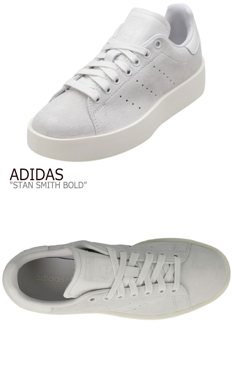 newest 61547 1ab2a Adidas Stan Smith sneakers ADIDAS men gap Dis STAN SMITH BOLD Stan Smith  boldface WHITE white thickness bottom CG3776 shoes-free article